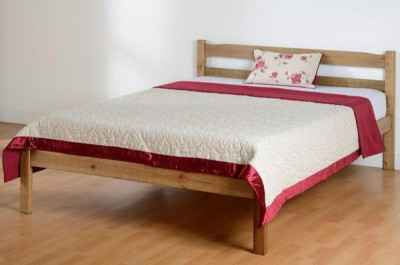 Panama solid pine waxed 4ft6 double bed