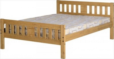 Rio solid waxed pine 4ft6 double bed
