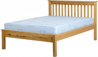 Neptune antique pine low foot 4ft6 double bed