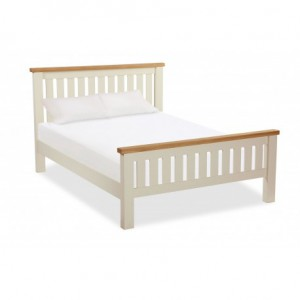New England cream and oak 4ft6 double bed