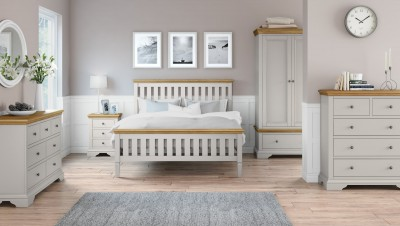 Chester grey and oak 4ft6 double bed
