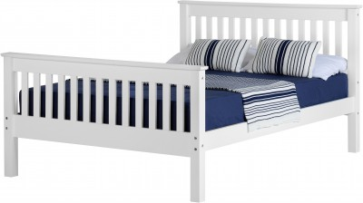 Neptune 5ft king size high foot white bed