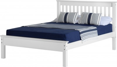 Neptune 5ft king size low foot white bed