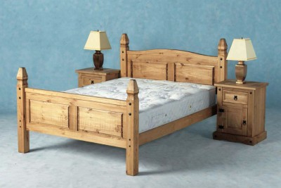 Corona Mexican pine 5ft king size high foot bed