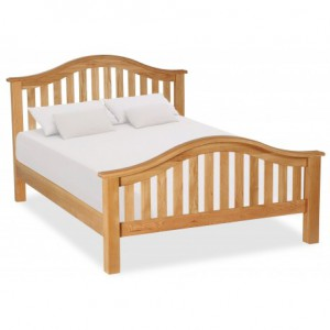 Erne Arched Solid Oak 5ft king size bed