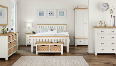 New England cream and oak 5ft king size bed