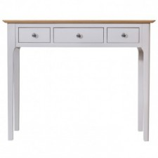 Scandinavian grey and oak 3 drawer dressing table