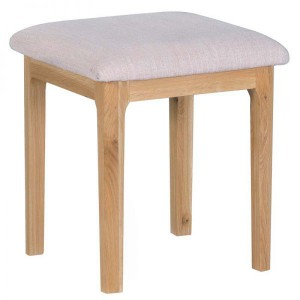Scandinavian oak dressing table stool