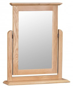 Scandinavian oak dressing table mirror