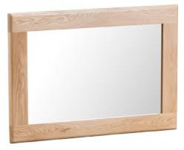 Scandinavian oak small wall mirror