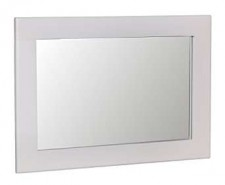 Scandinavian oak and grey small wall mirror