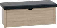 Sonoma light oak effect ottoman blanket box