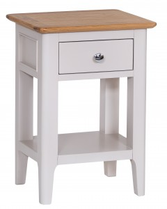 Scandinavian grey and oak side table