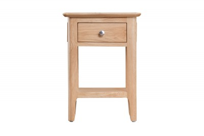 Scandinavian oak side table