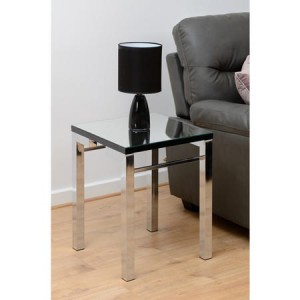 Mirrored lamp side table