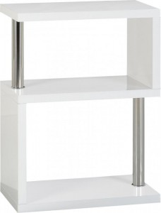 Charisma 3 shelf unit white grey black or light oak
