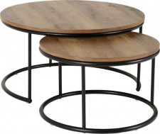 Wave round coffee table set