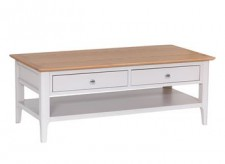 Scandinavian grey and oak large coffee table