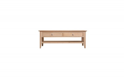 Scandinavian oak large coffee table