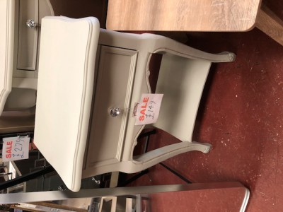 French style mint cream 1 drawer lamp table