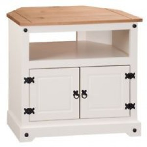 Corona mexican white corner TV unit