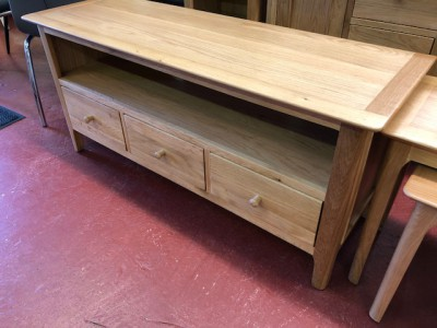 Scandinavian oak large TV unit
