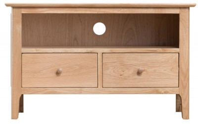 Scandinavian oak small TV unit