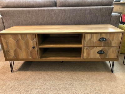 Hex large TV unit