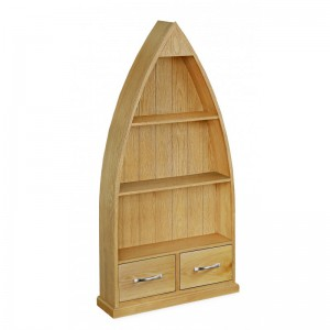 Tuscan oak boat bookcase
