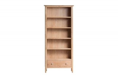 Scandinavian oak large bookcase