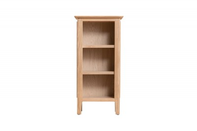 Scandinavian oak small narrow bookcase