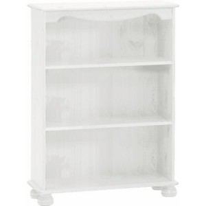 Richmond white 2 shelf bookcase