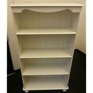 Richmond white 3 shelf bookcase