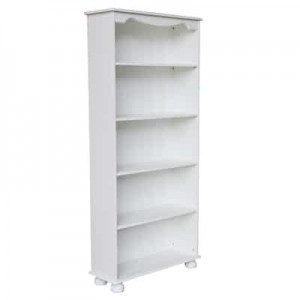 Richmond white 4 shelf bookcase