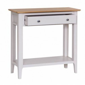 Scandinavian Oak and grey console table