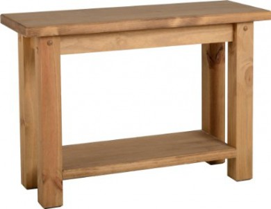 Block solid console table