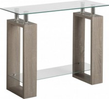 Charcoal effect and glass console table