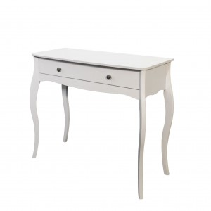 Elegance white one drawer console table