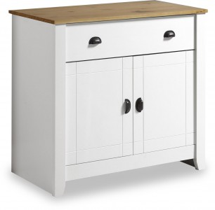 Ludlow white and wood sideboard
