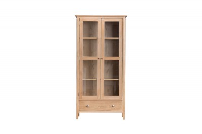 Scandinavian oak display cabinet