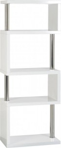 Charisma 5 shelf unit black white grey or light oak