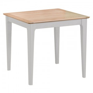 Scandinavian oak and grey small fixed top dining table