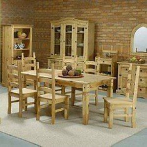Corona mexican pine 6ft solid dining table