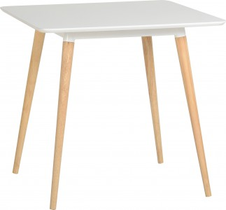 Julian white square dining table
