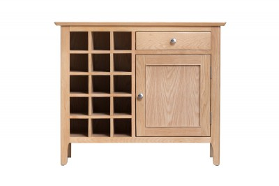 Scandinavian oak wine cabinet
