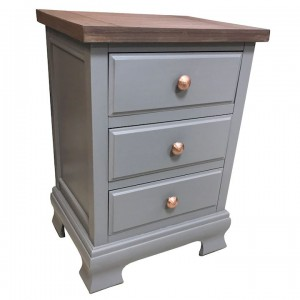 Ashton walnut and grey 3 drawer lamp table