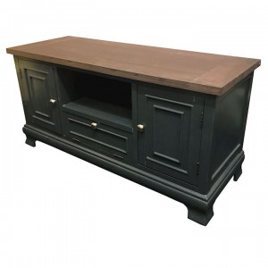 Ashton walnut and black TV unit