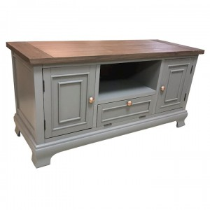 Ashton walnut and grey TV unit