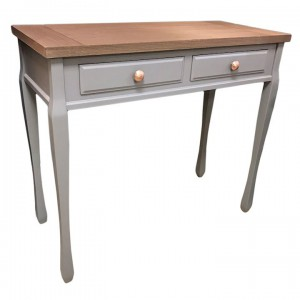 Ashton walnut and grey 2 drawer console table