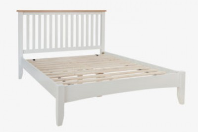 Georgia ivory & oak 4ft6 double bed